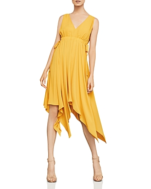 Bcbgmaxazria Handkerchief-Hem Midi Dress