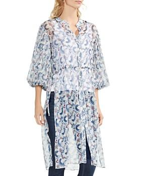 VINCE CAMUTO - Boutique-Floral Bubble-Sleeve Tunic