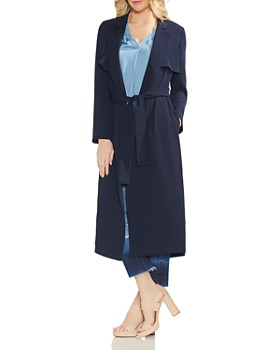 VINCE CAMUTO - Belted Open Trench Coat