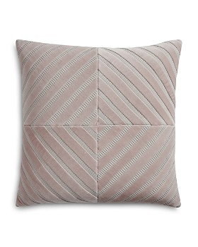 """Oake - Pieced Pleated Decorative Pillow, 22"""" x 22"""" - 100% Exclusive"""