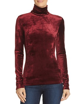 Theory - Velour Turtleneck Top
