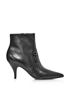 Tory Burch - Women's Georgina Pointed Toe Studded Booties