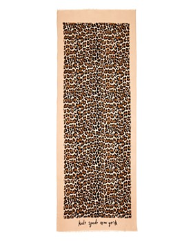 kate spade new york - Leopard Print Oblong Scarf