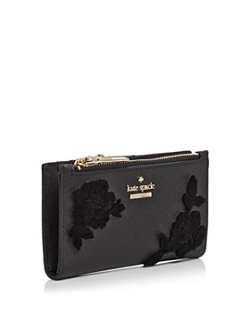kate spade new york - Cameron Street Velvet Roses Leather Wallet