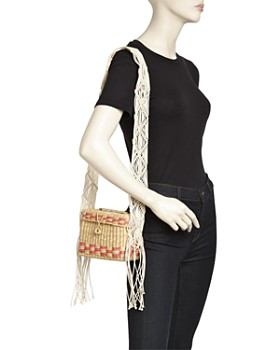 Nannacay - Roge Small Macrame-Strap Straw Shoulder Bag