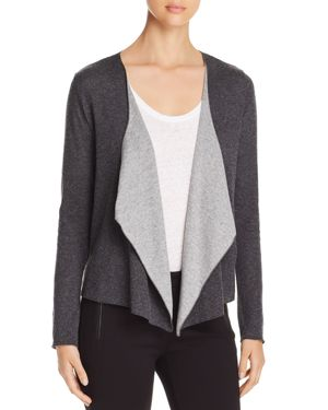 MAJESTIC DRAPED OPEN-FRONT CARDIGAN