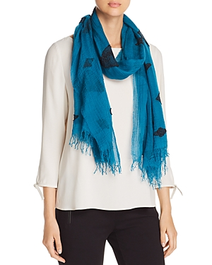Eileen Fisher Diamond-Print Organic Cotton Scarf