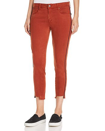 Parker Smith - Twisted Seam Crop Skinny Jeans in Whiskey