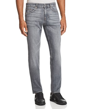 BOSS - Delaware Straight Slim Fit Jeans in Gray - 100% Exclusive