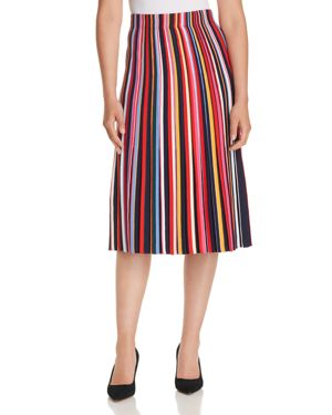 Tory Burch Ellis Striped Midi Skirt