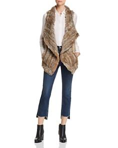C by Bloomingdale's - Rabbit Fur & Cashmere Vest - 100% Exclusive