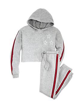 So Nikki... - Girls' Athletic-Stripe Fleece Hoodie & Sweatpants - Big Kid