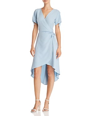 Aqua High/Low Faux-Wrap Dress - 100% Exclusive