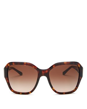 Reva 56Mm Square Sunglasses - Dark Tortoise Gradient in Dark Tort / Dark Brown Gradient from Sunglass Hut