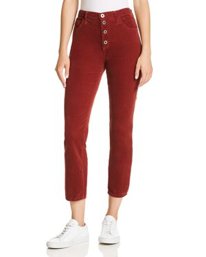 Ag Isabelle Straight Corduroy Jeans in Tannic Red 3053950