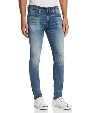 G-star Raw D-Staq 3D Skinny Fit Jeans in Dark Aged Antic Destroyed