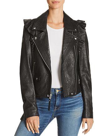 cefd9e18910f PAIGE - Annika Leather Moto Jacket