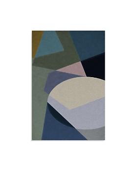 "Art Addiction Inc. - Abstract Blue Geometric Wall Art, 36"" x 24"""
