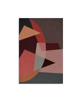 "Art Addiction Inc. - Abstract Red Geometric Wall Art, 36"" x 24"""