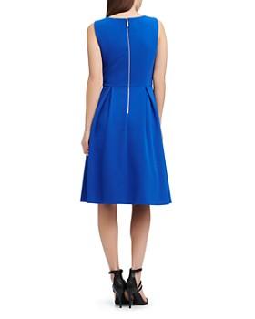 Donna Karan - Scuba Crepe Pleat-Detail Dress