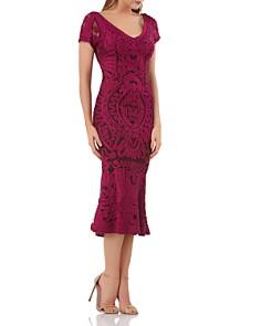 JS Collections - Ribbon Embellished Midi Dress