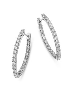 Bloomingdale's - Diamond Inside Out Earrings in 14K White Gold, 3.0 ct. t.w. - 100% Exclusive