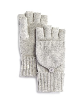 C by Bloomingdale's - Cashmere Exclusively by Bloomingdale's Cable Poptop Mittens - 100% Exclusive