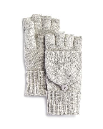 C by Bloomingdale's - Cashmere Pop Top Mittens - 100% Exclusive