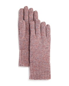 C by Bloomingdale's - Chunky Rib-Trim Cashmere Gloves - 100% Exclusive