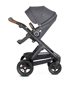 Stokke - Trailz™ Black Stroller Chassis with Brown Handle