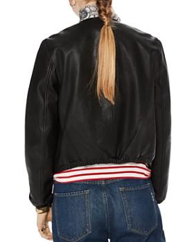 Scotch & Soda - Leather Bomber Jacket