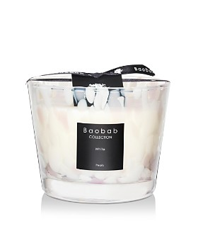 Baobab Collection - White Pearls Candle, Max 10