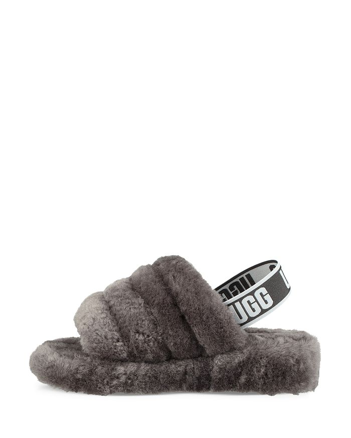702991b451e Women's Fluff Open Toe Fur Slide Slippers