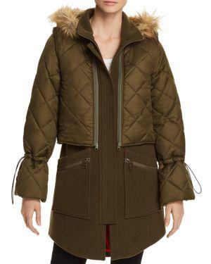 Joie Hetal Two-Piece Layered Coat