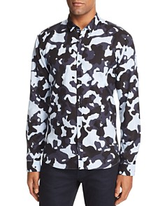 HUGO Ero Camo Striped Woven Extra Slim Fit Button-Down Shirt - Bloomingdale's_0