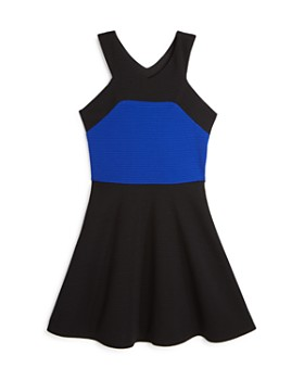 Sally Miller - Girls' Textured Color-Block Dress - Big Kid