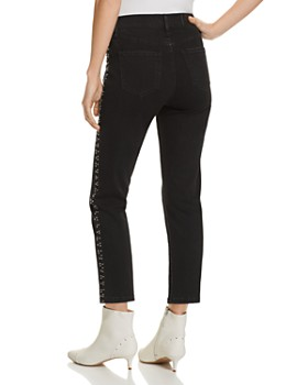a32ad27462d9 ... Pistola - Charlie Beaded Straight-Leg Jeans in Charcoal - 100% Exclusive