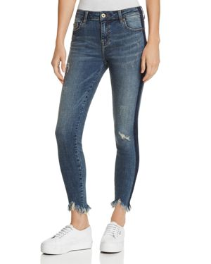 PISTOLA AUDREY SIDE-STRIPE DISTRESSED SKINNY JEANS IN SITUATIONAL
