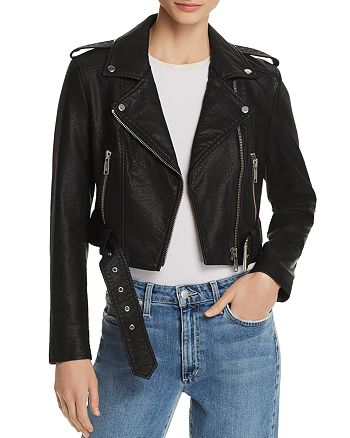 Pistola - Tracy Cropped Faux Leather Moto Jacket
