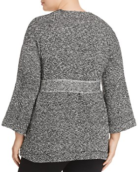 Eileen Fisher Plus - Mixed Knit Wrap Jacket