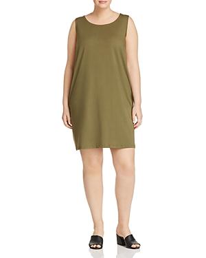 New Eileen Fisher Plus Tank Dress, Olive