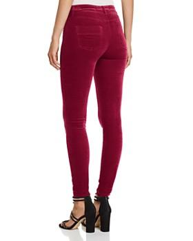 Elisabetta Franchi - Velvet Five-Pocket Skinny Pants