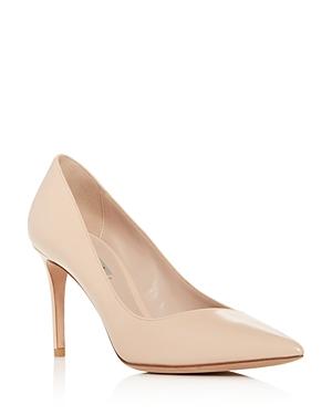 Giorgio Armani Women's Decollete Leather Pointed Toe Pumps