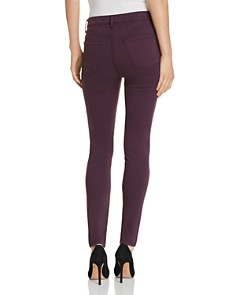 J Brand - Maria High Rise Skinny Jeans in Aubergine - 100% Exclusive