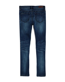 BLANKNYC - Girls' Glitter-Striped Skinny Jeans - Big Kid