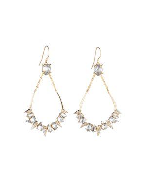 Alexis Bittar Swarovski Crystal Encrusted Mosaic Teardrop Earrings