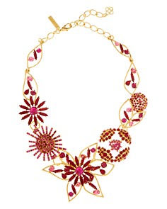 Oscar de la Renta - Flower Statement Necklace, 17""