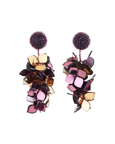 Oscar de la Renta - Falling Flower Clip-On Earrings