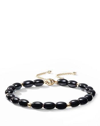 David Yurman - Bijoux Spiritual Beads Bracelet with Black Onyx and 18K Gold