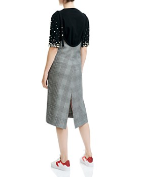 Maje - Racari Plaid Apron Dress